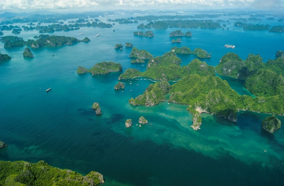 Halong Bay from a bird's eye view
